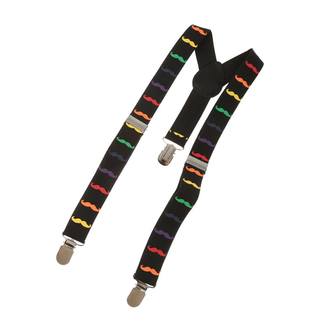 Boy  Mustache Adjustable Stretch Y-back Suspender Clip-on Braces #3