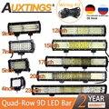 Светодиодсветильник панель для автомобилей Auxtings, 4 ряда, 4 дюйма, 20 дюймов, 23 дюйма, 60 Вт, 510 Вт, 570 Вт, 12 В, 24 В