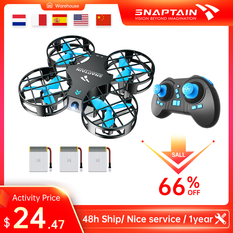 SNAPTAIN Mini Drone RC Drone Toy Mini RC Quadrocopter Headless Drones Portable Pocket Dron 3D Flip For Kids Christmas gift