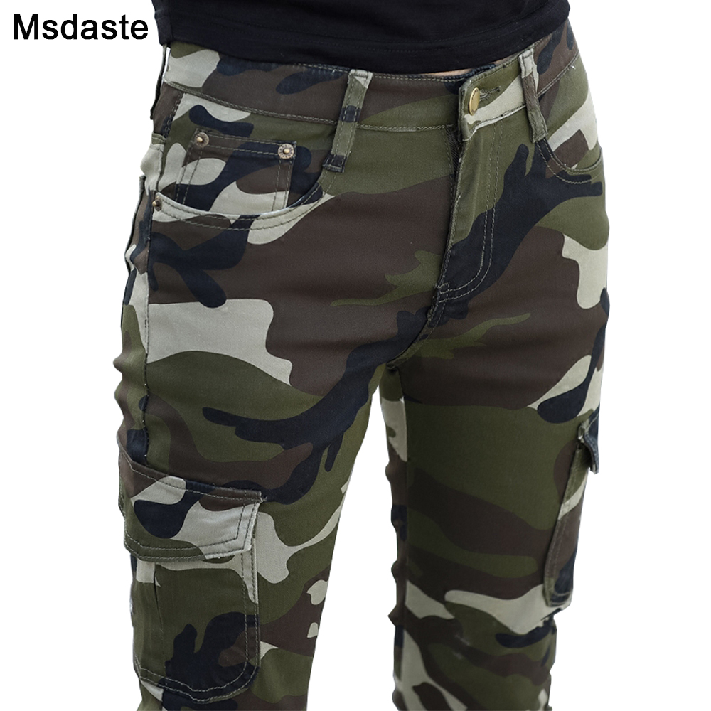 2019 Autumn Women Pencil Trousers Camouflage Army Green Slim Bodycon Girl Pants Leggings Femme Joggers Pantalones Mujer 26~34