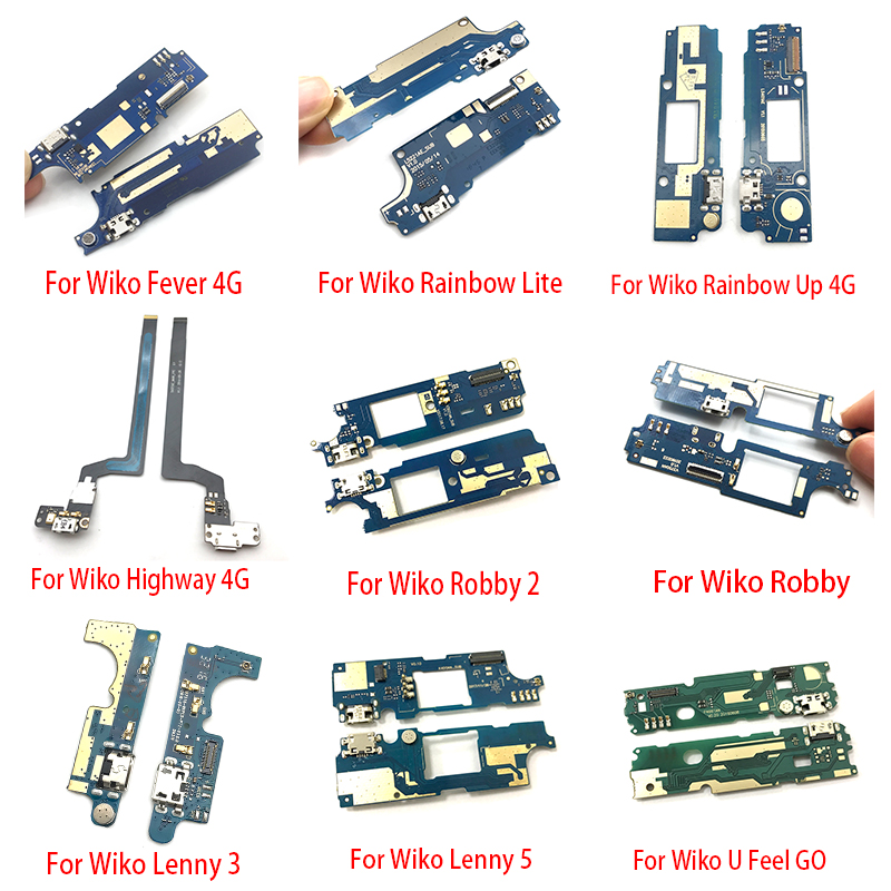 USB Charging Port Dock Connector Charger Board Flex Cable For Wiko U Feel Prime Rainbow Lite Go Lenny 3 5 Robby 2 Fever 4G