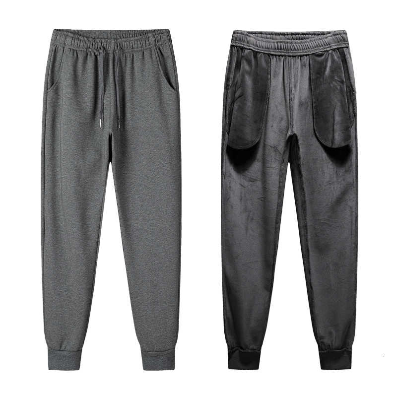 Kış sıcak pamuk eşofman altı erkek Streetwear pantolon rahat kalem keten erkek pantolon tam boy İpli pantolon erkekler için 4XL