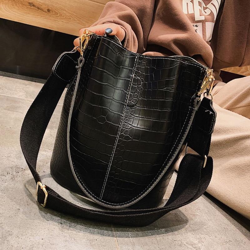 Retro-Vintage-Fashion-Female-Tote-Bag-2019-New-PU-Leather-Women-s-Designer-Handbag-Alligator-Bucket