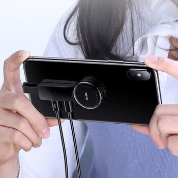 Adaptador Para Dual Lighting Ring Holder Adaptador para iPhone AUX a 3.5mm Carregador de áudio para Splitter iPhone Jack Headphones Headset 1