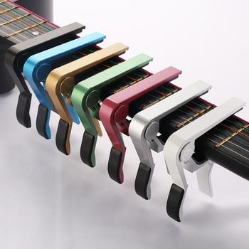 Metal guitarra capo braçadeira chave para 6 cordas acústico clássico guitarra elétrica mudança de ajuste braçadeira chave instrumento musical acessórios