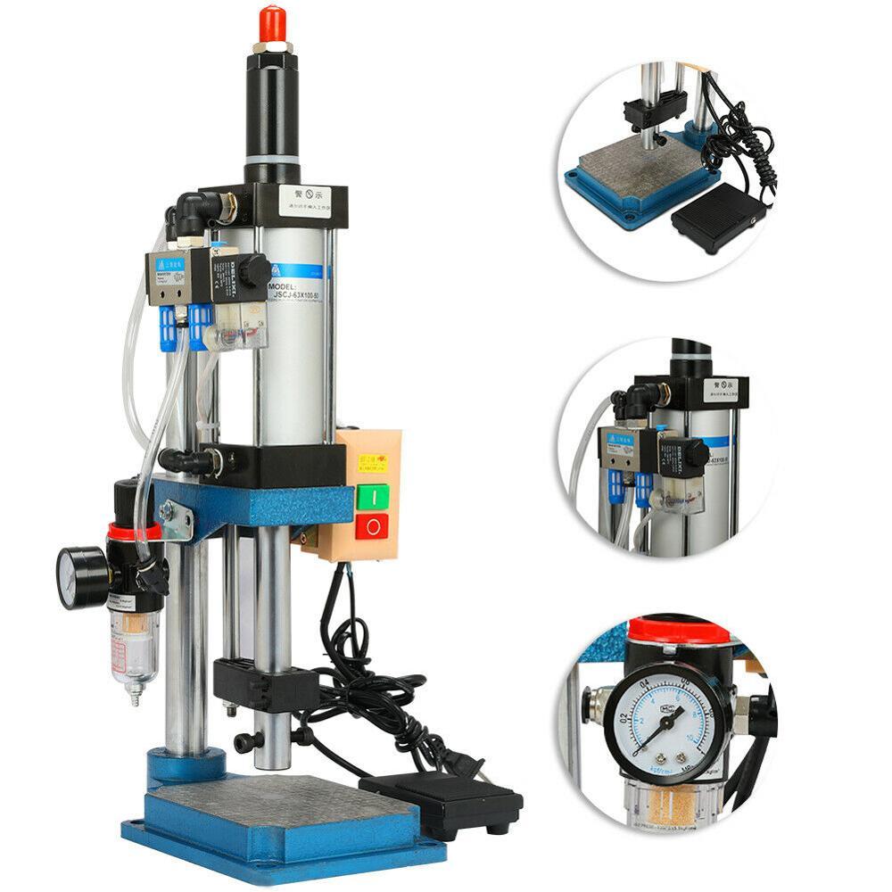 200KG/440lbs Pneumatische Presse Maschine Pneumatische Stanzen Maschine Kleine Desktop Pneumatische Punch 110V