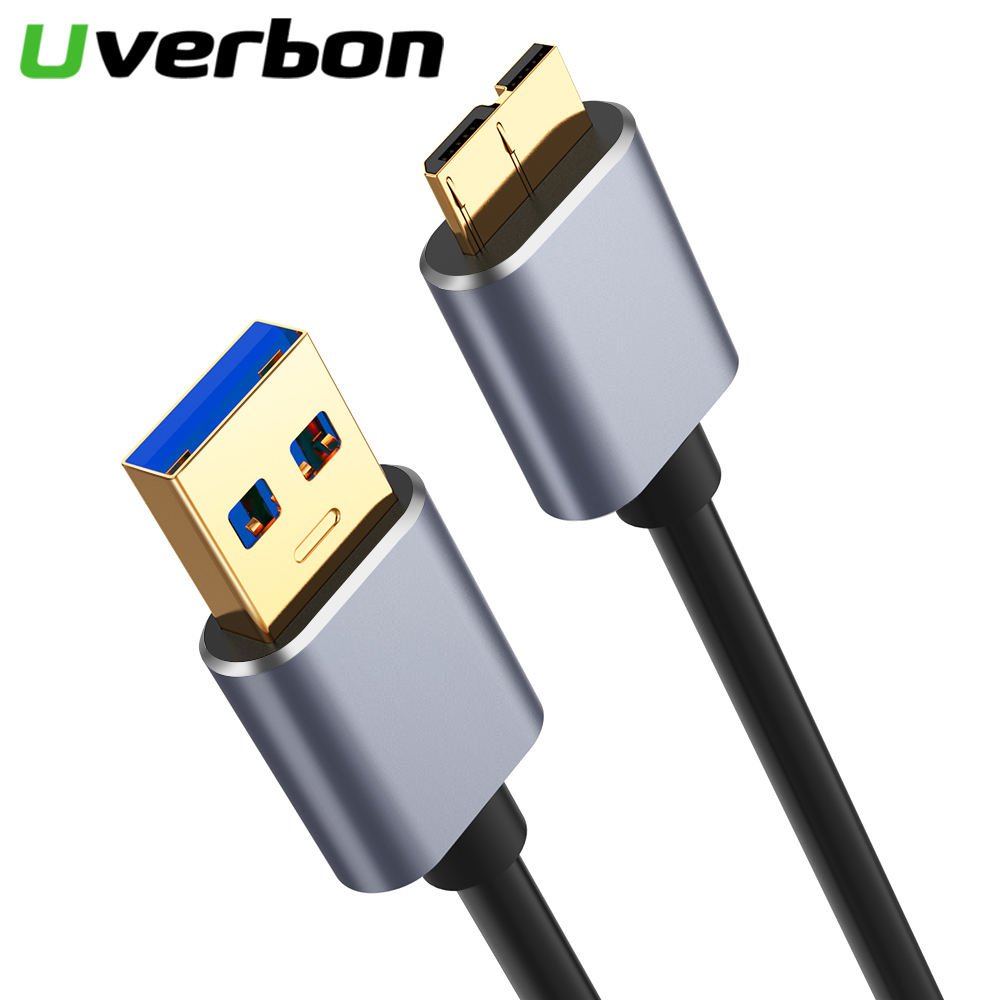 <font><b>USB</b></font> <font><b>3.0</b></font> Type A to Micro <font><b>B</b></font> Data Sync Cable Fast Speed USB3.0 Cord For External Hard Drive Disk HDD Samsung S5 Note 3 image