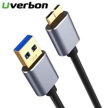 유형 A ~ 마이크로 B USB 3.0 데이터 싱크 케이블 고속 USB3.0 외장형 하드 디스크 HDD 용 코드 삼성 S5 Note 3