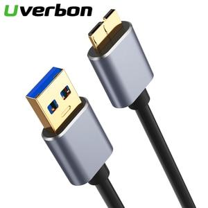 Image 1 - Cable de sincronización de datos USB 3,0 de tipo A Micro B, Cable USB de velocidad rápida para disco duro externo HDD, Samsung S5 Note 3