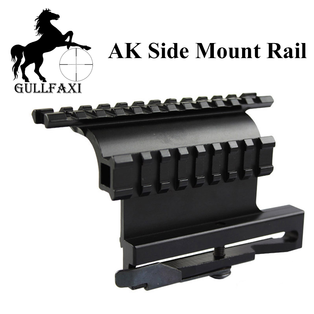 Gullfaxi AK Serie Side <font><b>Mount</b></font> Rail Tactical Picatinny Weaver Rail <font><b>Mount</b></font> Quick QD 20mm picatinny <font><b>Scope</b></font> <font><b>Mount</b></font> <font><b>AK47</b></font> AK74 Accessories image
