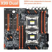 X99 Dual CPU Motherboard Stable Fast Computer Circuit Board for Home Office motherboard  CPU with M.2 slot dual Accessories