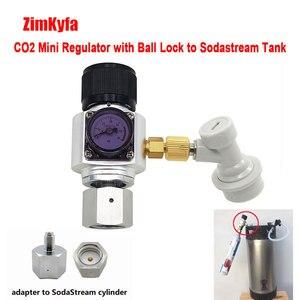 Image 4 - Мини со2 регулятор зарядное устройство с шаровым замком для Sodastream, Пейнтбольный бак, одноразовый картридж для Домашнего Пива Cornelius 0 ~ 60psi