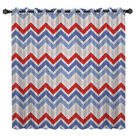 Blue Pink Red Wave Window Treatments Curtains Valance Room Curtains Large Window Window Curtains Dark Window Blinds Blackout