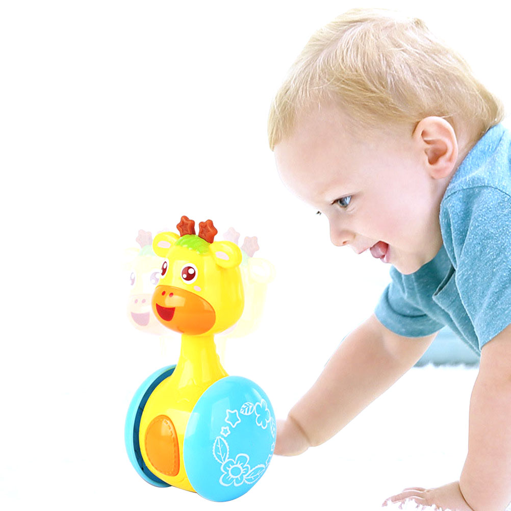 Baby Rattles Tumbler Doll Baby Toys Sweet Bell Music Roly-Poly Learning Education Toys Gifts Baby Bell Baby Toys Cartoon#30
