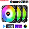 COOLMOON Quiet Moon 120mm RGB Case Fan 5V ARGB Fan Adjustable Colorful Quiet PC Cooler Cooling Fan 12cm Computer Case Fan