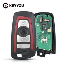 KEYYOU 3/4 düğmeler uzaktan anahtar Fob BMW 5 7 için F serisi FEM / BDC,CAS4,CAS4 + 2012 2017 YGOHUF5662/YGOHUF5767 315/433/868Mhz yeni