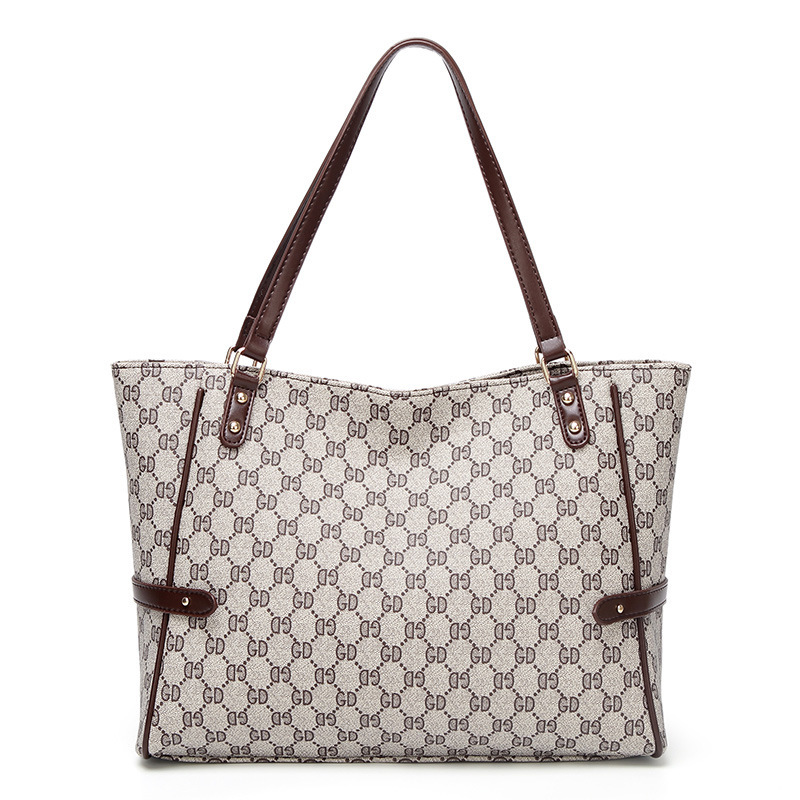 Woman New Chain Embroidery Plaid Inclined Shoulder Bag Single Shoulder Bag