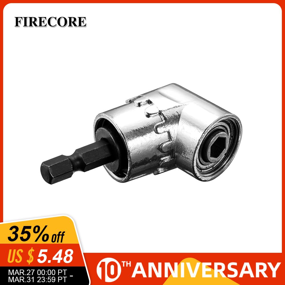FIRECORE 105 Degrees Right Angle Adapter Drill Bits With 1/4'' Hex Shank Driver Extension Power Screwdriver Holder Tools