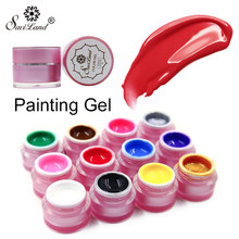 Saviland 12 Kleuren Glitter 3D Verf Uv Gel Semic Permanente Gel Polish Nail Art Bio Nagellak Getrokken Paiting Gel lak Vernis(China)