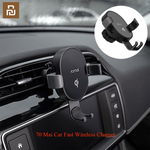 Image 5 -  Qi Wireless Car Charger For iPhone Xs Max XR X Samsung Intelligent Sensor Fast Wireless Char ger Holder in Car
