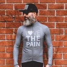 Велосипедная кофта с длинными рукавами love the pain зимняя