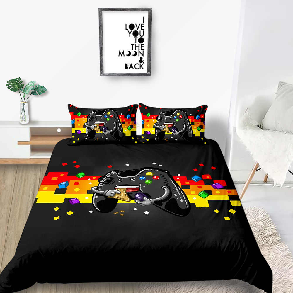 king size bedding set gamepad fashionable creative duvet cover for boys queen king twin full single double unique design bed set