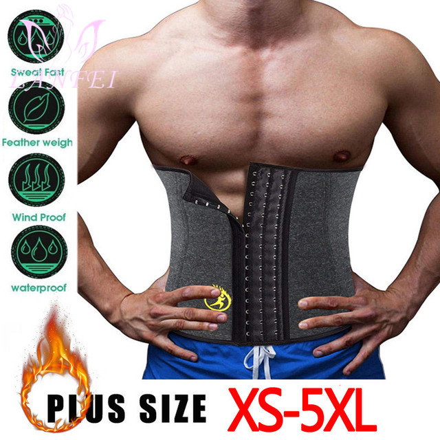 LANFEI Hot Neoprene Body Shaper Corset Men Thermo Sweat Waist Trainer Belt Weight Loss Workout Slimming Modeling Strap Vest Faja 1