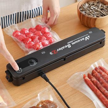Próżniowa do kuchni zgrzewarka spożywcza automatyczne komercyjne gospodarstwo domowe 220V 110V żywności uszczelniacz próżniowy pakowarka zawiera 10 sztuk worków tanie i dobre opinie karsah NONE CN (pochodzenie) Vacuum Packaging Machine Stojak Stół Elektryczne