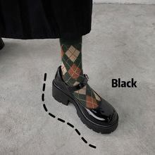 Damskie buty japonki Mary Jane w stylu College 2021 klasyczne dziewczyny szpilki Retro brytyjskie buty skórzane Kawaii Maid tanie tanio Samool Klinowe CN (pochodzenie) okrągły nosek 5-7 cm Wysoka (5 cm-8 cm) Dobrze pasuje do rozmiaru wybierz swój normalny rozmiar