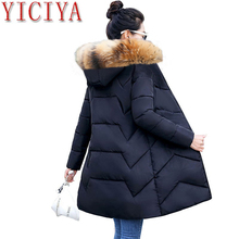 Large Size S-7XL Women Winter Coat Big Fur Down Parkas Winter Hooded Coat Female Slim Winter jacket for Women Warm Long Parkas wmswjh 2017 winter jacket women s coat plus size fur hooded parkas women slim quilted jackets thicken zipper warm outerwear