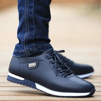 Italian leather sneakers men dress shoes size 45 46 lace-up fashion wedges sneakers men formal shoes 1