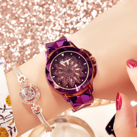 2020 Luxury Brand Women Watches Personality Romantic Zircon Flower Wrist Watch Design Ladies Clock
