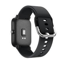 Silicone substituição pulseiras de relógio correias para xiaomi huami amazfit bip juventude relógio tamanho pode ajustado como necessário não incluir relógio