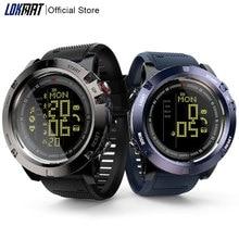 LOKMAT akıllı saat erkekler nabız monitörü su geçirmez 50m Bluetooth çağrı hatırlatma spor saati ios için akıllı saat Android telefon