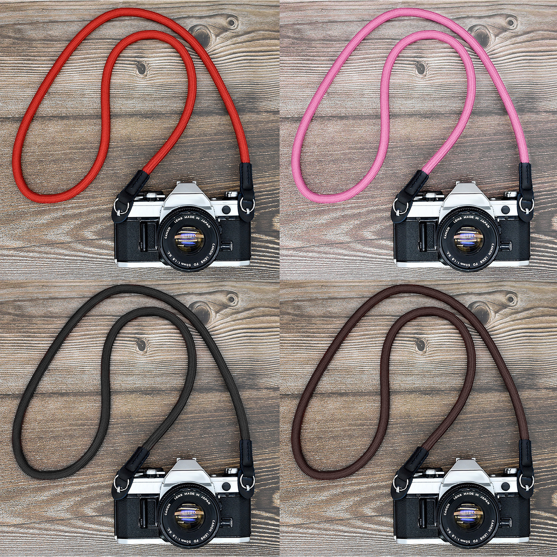 Besegad Universal Nylon Neck Strap Wrist Belt Compatible with GoPro SLR DSLR Sports Action Camera Climbing Rope Shoulder Strap
