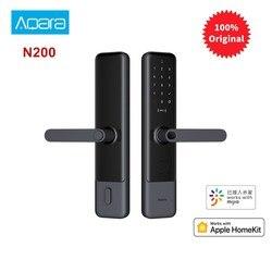 Bloqueo de puerta inteligente Aqara N200, Huella Digital, Bluetooth, contraseña NFC, desbloqueo, funciona con Mijia Apple HomeKit, enlace inteligente con timbre