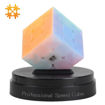 Qiyi Jelly Color Fun Magic Cube 3x3 Stickerless Speed Cube Puzzle Finger Toy Antistress Education Toys For Children Cubo Magico qiyi jelly color fun magic cube 3x3 stickerless speed cube puzzle finger toy antistress education toys for children cubo magico
