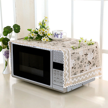 Dust-Cover Microwave Home-Supply-Accessories Printed Oven-Range Hood Flower with Storage-Bag