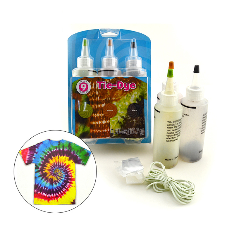Creative DIY3 Color Mixed Clothes Dye Does Not Fade Can Be Refurbished Clothing Tie Dye Paint Set Toys