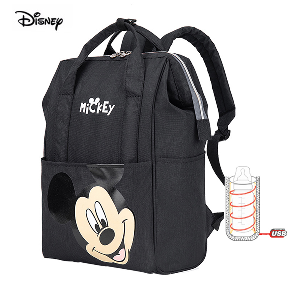2020 New Style Disney Cartoon Diaper Bag Mom Travel Light Weight Nylon Maternity Nappies Backpack Mother Baby Diaper Backpack