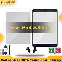 Для iPad Mini 2 Mini2 A1489 A1490 внешняя Сенсорная панель Сенсорный экран + IC чип гибкий разъем с/без ключа