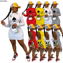 CM.YAYA – robe Midi noire pour femmes, tenue de Poker, dos nu, manches longues, Sexy, moulante, boîte de nuit, Mini robe crayon