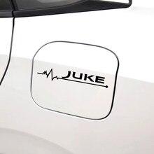 Para nissan juke decoração do carro puxar flor adesivo reflexivo tanque de combustível tampa etiqueta do carro estilo do carro adesivo