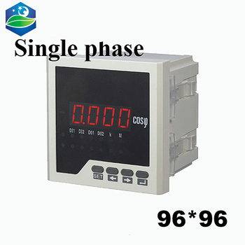 single phase digital power meter panel meter power factor meter 96*96