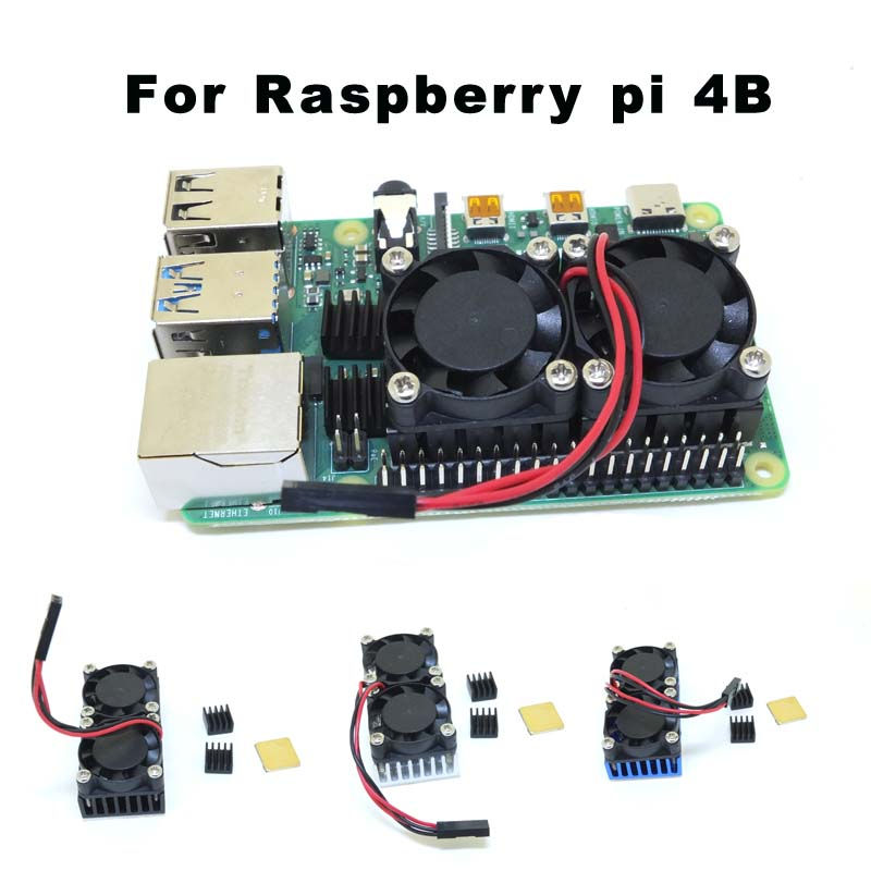 Raspberry Pi 4B Dual Fan Cooling System Module With Heatsink For Raspberry Pi 4B