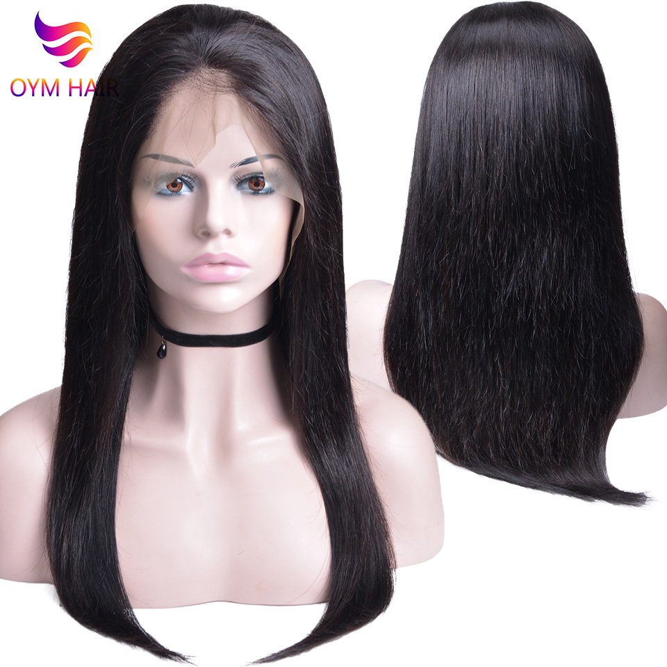 13X4 Lace Front Human Hair Wigs Pre Plucked Non-Remy Brazilian Straight Lace Front Wigs With Baby Hair For Black Women