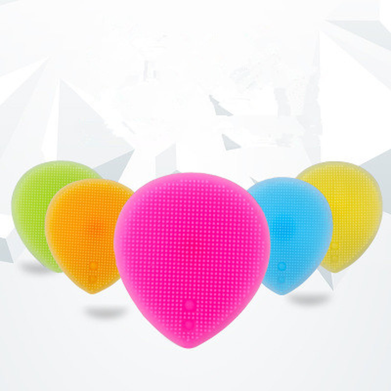 1pc Silicone Beauty Washing Pad Facial Exfoliating Blackhead Face Cleansing Brush Tool Soft Deep Cleaning Face Brushes