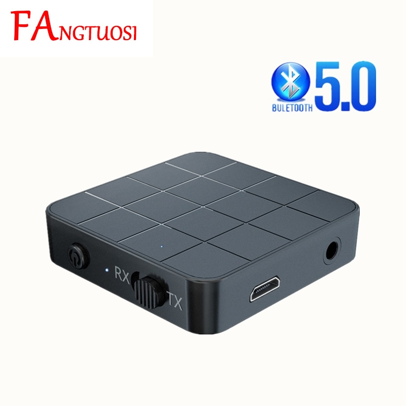 Bluetooth 5.0 Audio Receiver Transmitter 2 IN 1 3.5mm 3.5 AUX Jack RCA Stereo Music Wireless Adapter For TV Car PC Speakers
