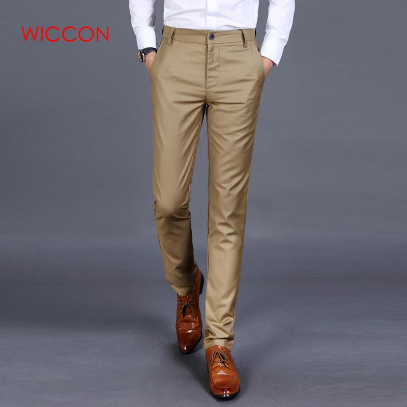 New 2020 High-quality Goods Cotton Men Pure Color Formal Business Suit Pants Quality Male Leisure Suit Pants Trousers