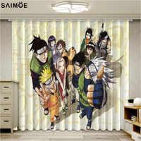 Занавески Наруто для гостиной, популярные аниме-шторы для детской спальни
